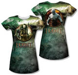 Juniors: The Hobbit: The Battle of the Five Armies - Dwarves Vs Azog (Front/Back Print) T-shirts