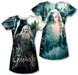 Juniors: The Hobbit: The Battle of the Five Armies - Wizard (Front/Back Print) T-Shirt