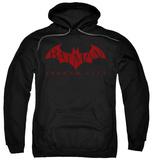 Hoodie: Batman Arkham City - Red Bat Pullover Hoodie