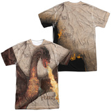 The Hobbit: The Battle of the Five Armies - Smaug Attack (Front/Back Print) T-Shirt