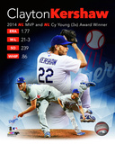Clayton Kershaw 2014 National League MVP & Cy Young Award Winner Portrait Plus Photo