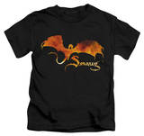 Juvenile: The Hobbit: The Battle of the Five Armies - Smaug On Fire T-shirts