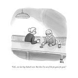"""O.K., one last big rhubarb score. But then I'm out of the pie game for go - New Yorker Cartoon Premium Giclee Print by Paul Noth"