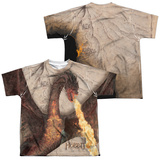 Youth: The Hobbit: The Battle of the Five Armies - Smaug Attack (Front/Back Print) T-Shirt