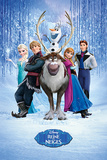 Frozen - Cast French Language Print