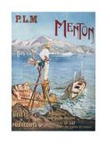 Menton - Affiche du P.L.M. Giclee Print