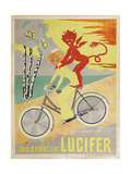 Advertising Poster for Lucifer Bicycles Lámina giclée
