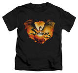 Juvenile: The Hobbit: The Battle of the Five Armies - Reign In Flame T-shirts