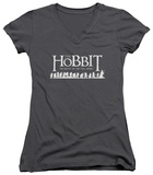 Juniors: The Hobbit: The Battle of the Five Armies - Walking Logo V-Neck T-Shirt