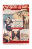 Touristic Advertising Poster: Chemins De Fer De L'Etat, Saint-Trojan-Les-Bains, Île D'Oleron.. Impression giclée par R. Bouvet