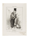 French Types: the Man with Small Private Income Giclee Print by Honore Daumier