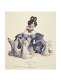 The Corset Seller Giclee Print by Charles Philipon