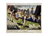 Musee Grotesque: Passengers Aboard the Furie Steamship Sailing from Dover to Calais.. Giclee Print by Pierre Maleuvre