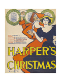 Harper's Christmas Giclee Print by Edward Penfield