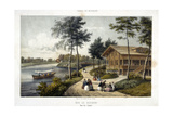 Bois De Boulogne, View of the Chalet Giclee Print by  Deroy