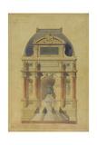 Place De Sebastopol and Peace Fountain Giclee Print by Gabriel Davioud