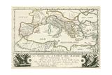 Carte de l'Empire romain de Jules Cesar Giclee Print by Julius Caesar
