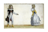 Two Children Wearing Clothes from 1787 Giclee Print by  Duhamel
