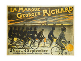Advertising Poster for Georges Richard Bicycles, 24 Rue Du 4 Septembre Giclee Print by Jean Léonce Burret