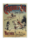 Cirque d'Ete Giclee Print by Charles Levy