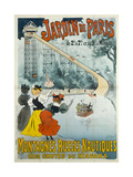 Jardin De Paris, Water Coaster also known as Niagara Falls Giclee Print by Georges Henri Jean Isidore Meunier