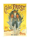 Advertising Poster for Frost Bicycles Giclee Print by  Clouet