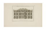 Elevation of the Amelot Mansion House, View from the Garden Giclee Print by Jean Mariette