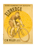 20,000 Kilometers with a Eldredge Bicycle Giclee Print by Marcellin Auzolle and A. Gallice
