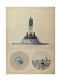 Study of Monument for La Fayette Giclee Print