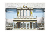 Plan and Elevation of the Structure Built on August 1739 Giclee Print