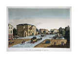 View of the Barriere Saint-Denis Tollgate Giclee Print by  Courvoisier and Boivin