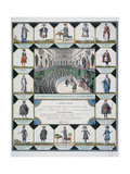 Costumes of the Representatives of the French People and Civil Servants, 1795 Giclee Print