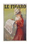 Le Figaro Newspaper Giclee Print by Michel Simonidy