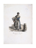 Handkerchief Seller Giclee Print by Carle Vernet