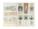 Roman Baths of Lutetia, Paris Giclee Print by Camille Bernard