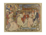 """Poster for the Show """"Les Amants"""" Giclee Print by Alphonse Mucha"""