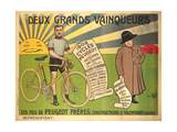 Advertising Poster for Peugeot Freres Bicycles Giclee Print by  Mich