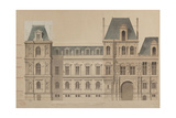 Sketch for the Reconstruction of the Paris City Hall Giclee Print by Gabriel Davioud
