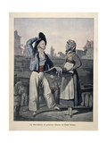 The Fish Seller Giclée-Druck von Carle Vernet
