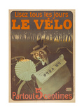Advertising Poster for the Newspaper Le Velo, 1897 Giclee Print by  Misti-Mifliez