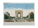 View of the Arc De Triomphe Giclee Print by  Basset