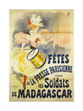 Celebration of the Parisian Press for the Soldiers of Madagascar Giclee Print by Georges Henri Jean Isidore Meunier