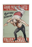 Wrestling Championship of Paris at the Folies Bergere Giclee Print by Henri Gabriel Ibels