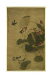 Birds and Flowers Giclee Print by Jiang Tingxi