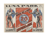 Advertising Poster for the Luna Park Giclee Print by G Delatre