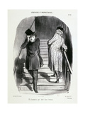 Locataires Et Proprietaires, Numero 20 - Un Locataire Qui Doit Trois Termes Giclee Print by Honore Daumier
