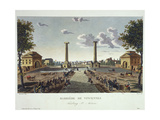 View of the Barriere De Vincennes Tollgate Giclee Print by  Mercier and Courvoisier