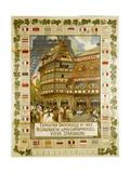 The Maison Kammerzell Restaurant in Strasbourg Giclee Print by Henri Loux