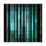 Pixels Stripe Pattern Design Photographic Print by Megan Aroon Duncanson