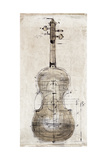 Violin Study, Back Premium Giclee Print by  Symposium Design